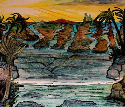 Sketch Of 8 Print by Richard  Hubal