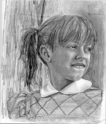 Drawing - Sketch Of Myself As A Child by Katherine Huck Fernie Howard