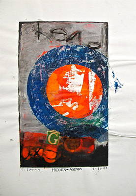 Abstract Collage Drawing - Sketchbook 1  Pg 40 by Cliff Spohn