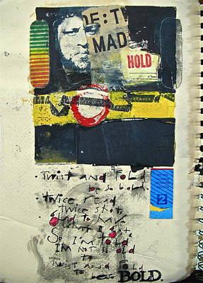 Cardboard Mixed Media - Sketchbook 2  Pg 0 by Cliff Spohn