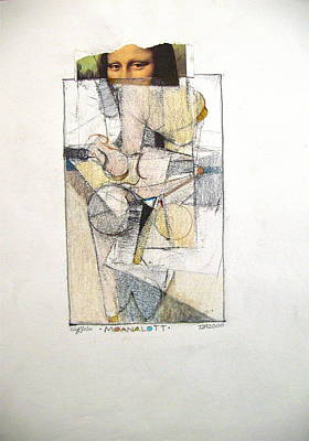 Drawing - Sketchbook 2  Pg 10-- A Cubist Intervention For Possible Developement by Cliff Spohn