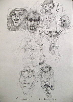 Drawing - Sketchbook 2  Pg 7 by Cliff Spohn
