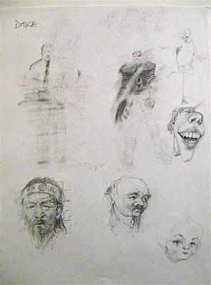 Drawing - Sketchbook 2  Pg 9 by Cliff Spohn
