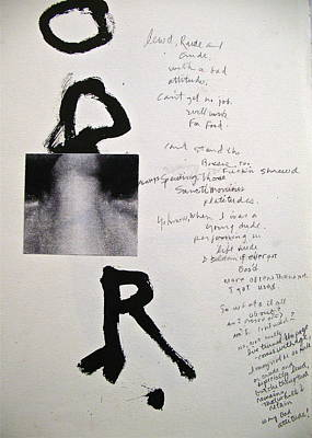 Abstract Collage Drawing - Sketchbook 3 Pg 18  Lewd Rude And Crude   by Cliff Spohn