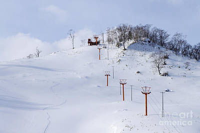Chair Lift Photograph - Ski Slope by Jeremy Woodhouse