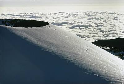 Mauna Kea Photograph - Skiers Schuss Down The Broad Expanse by Robert Madden