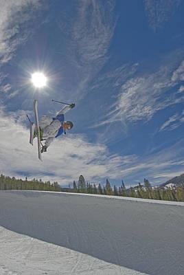 Bravado Photograph - Skiing Aerial Maneuvers And Flips by Gordon Wiltsie