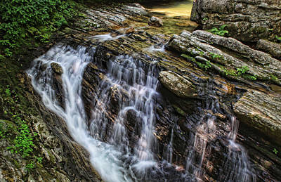 Photograph - Skinny Dip Falls Blue Ridge Parkway by Shari Jardina
