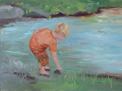 Art Print featuring the painting Skipping Stones by Carol Berning