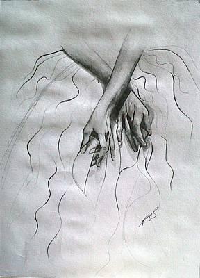 Drawing - Skirt I. by Paula Steffensen