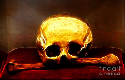 Skull And Bones Print by Mariola Bitner