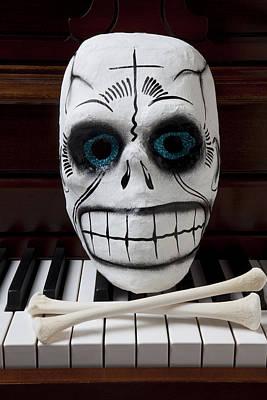 Skull Mask With Bones Art Print by Garry Gay