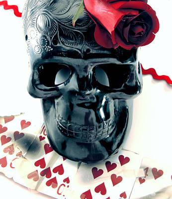 Photograph - Skull N Rose by Gabe Arroyo