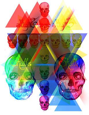 Skulls Illuminate Skulls Art Print by Kenal Louis