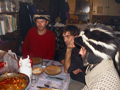 Photograph - Skunk Hats by Nancy Griswold