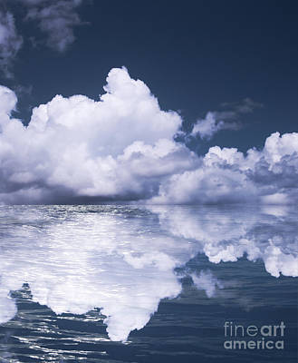 Sky And Ocean Art Print by Blink Images