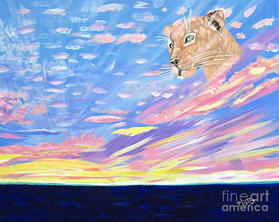 Painting - Sky Cat by Phyllis Kaltenbach