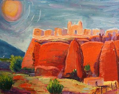Painting - Sky City by Carolene Of Taos