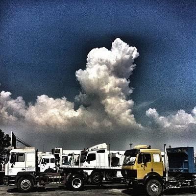 Truck Photograph - #sky #clouds #day #truck #blue by Jaffer Shadiq