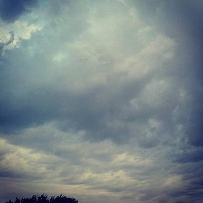 #sky #clouds #nature #andrography Print by Kel Hill