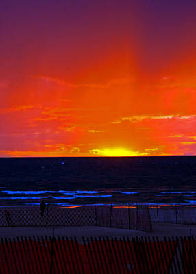 Art Print featuring the photograph Sky Fire by Randall  Cogle
