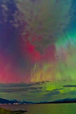 Sky Full Of North Light Art Print by Frank Olsen
