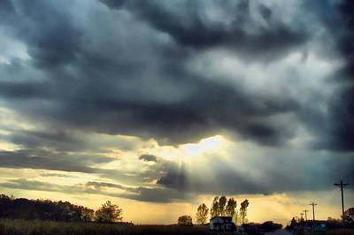 Sky In Turmoil Art Print by Tom Schmidt