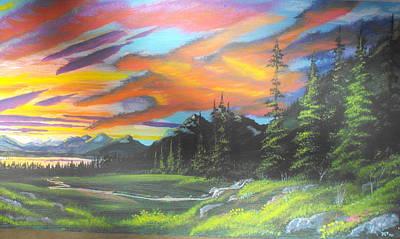 Skyfire Art Print by W Wayne Mosbarger