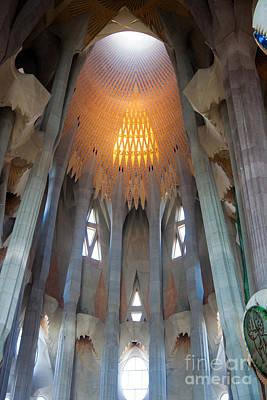 Skylight At Gaudi Cathedral Art Print