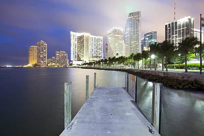 Bayfront Park Photograph - Skyline And Brickell Key, Miami, Florida, Usa by Jose Luis Stephens
