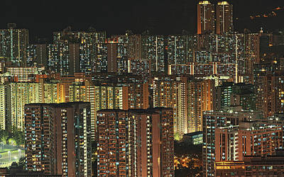 Kowloon Photograph - Skyline At Night by Ryan Cheng Photography