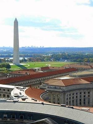 Washington Monument Drawing - Skyline Of Dc  by Anjali Sarkar