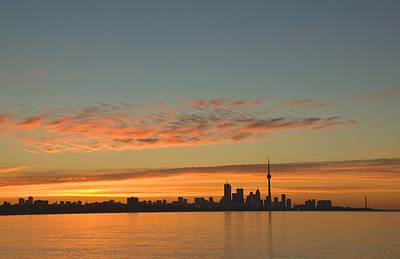 Skyline Of Toronto Against A Beautiful Art Print by Alan Marsh