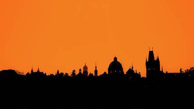 Prague Photograph - Skyline Over Charles Bridge, Prague by Alexandre Fundone