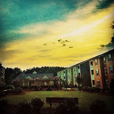 Yellow Wall Art - Photograph - #skyscape #cloudscape #cloudysky #sky by Katie Williams