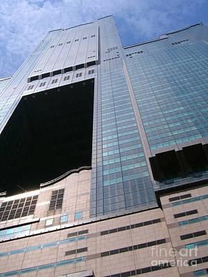Skyscraper View Art Print by Yali Shi