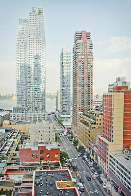 Traffic Congestion Photograph - Skyscrapers In New York City by Charles Knox
