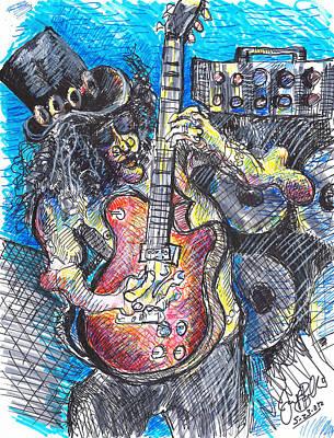 Slash Distortion  Art Print by Jon Baldwin  Art