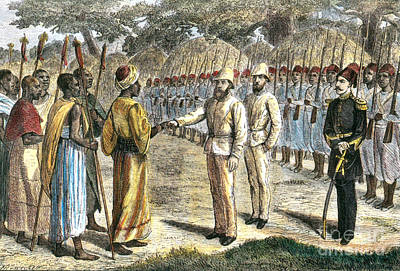Slave Trader Surrenders To Baker, 1869 Art Print by Photo Researchers