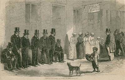 Slaves For Sale In New Orleans In April Art Print by Everett