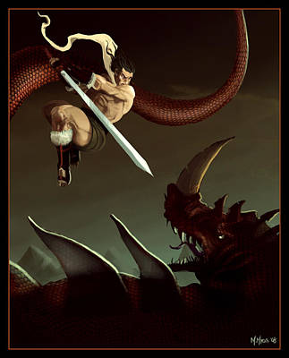 Slay The Dragon Art Print by Michael Myers