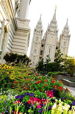 Slc Temple Photograph - Slc Slant by La Rae  Roberts