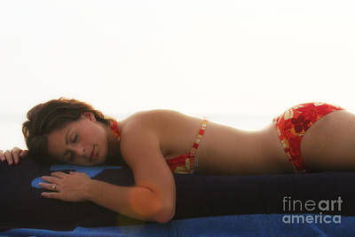 Swimsuit Photograph - Sleeping At The Beach by Christopher Purcell