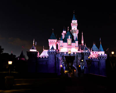 Photograph - Sleeping Beauty's Castle After Dark by Heidi Smith