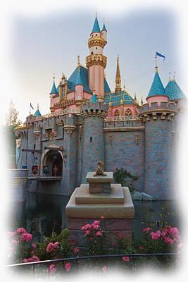 Photograph - Sleeping Beauty's Castle Reflection Lake Disneyland by Heidi Smith