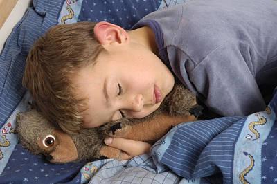Sleeping Child Print by Matthias Hauser