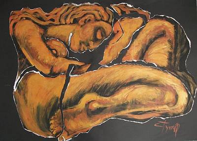 Female Painting - Sleeping Nymph4 - Female Nude by Carmen Tyrrell