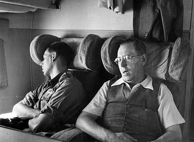 Sleeping Passengers Art Print by Haywood Magee