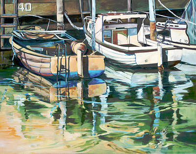 Art Print featuring the painting Sleepy Harbor 3 by Rae Andrews