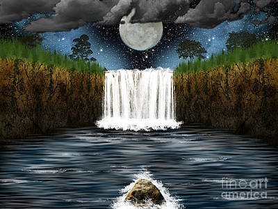 Sleepy River Art Print